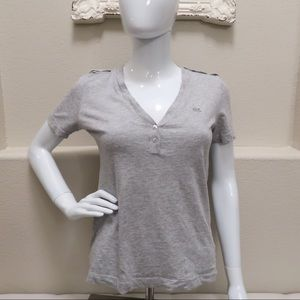 Lacoste gray shirt
